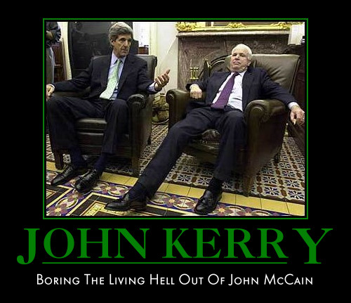 funny John Kerry Demotivational poster