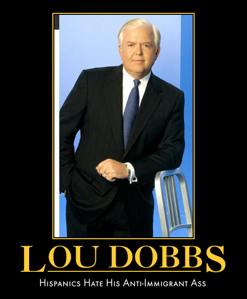 funny Lou Dobbs demotivational poster political
