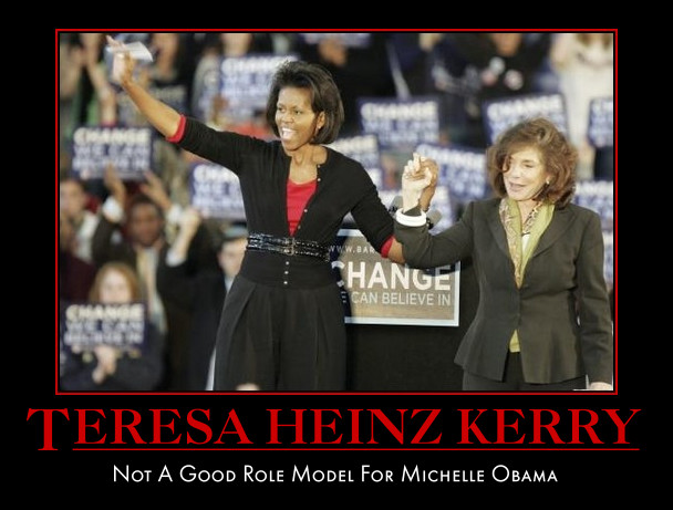 funny michelle obama Teresa Heinz Kerry demotivational poster