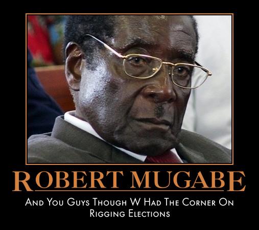 funny Robert Mugabe demotivational poster political