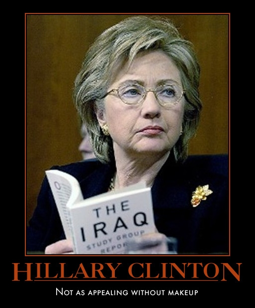 funny Hillary Clinton demotivational poster posters