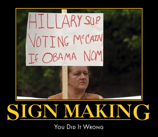 funny Hillary Clinton demotivational posters poster political