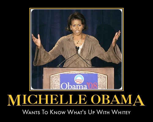 funny Michelle Obama demotivational posters poster political