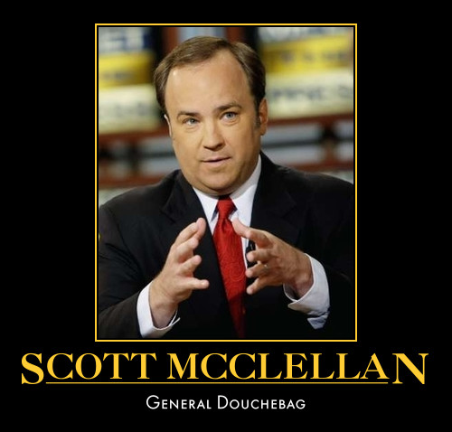 funny Scott McClellan demotivational posters poster political
