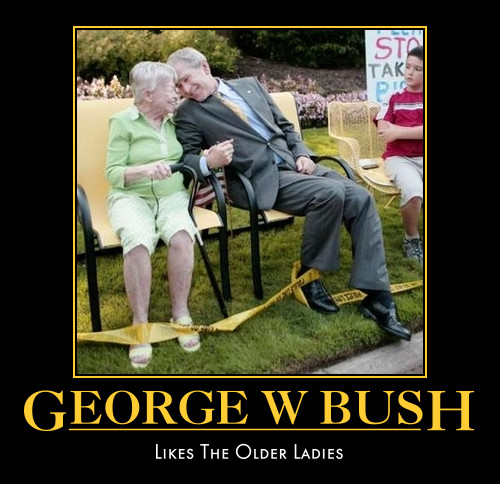 funny George W Bush demotivational posters poster political demotivation