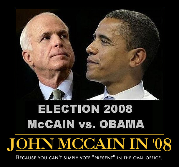 funny John mcCain Barack Obama demotivational posters poster political demotivation