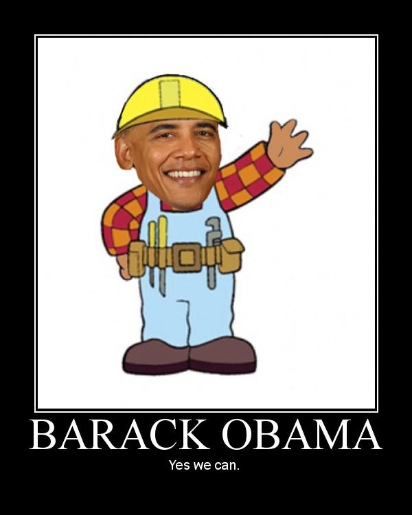 Bob The Builder Barack Obama on Bob The Builder Funny