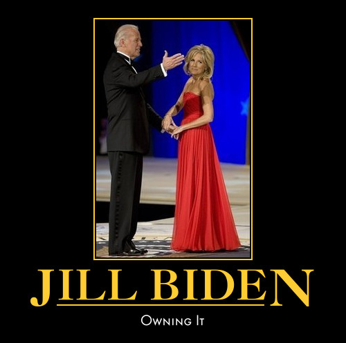 funny Jill Biden demotivational poster posters political dmeotivation