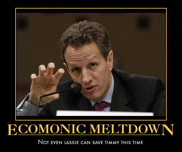 funny Tim Geithner demotivational posters poster political dmeotivation
