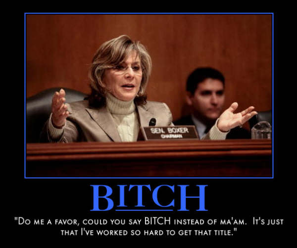 funny Barbara Boxer demotivational posters poster political demotivation
